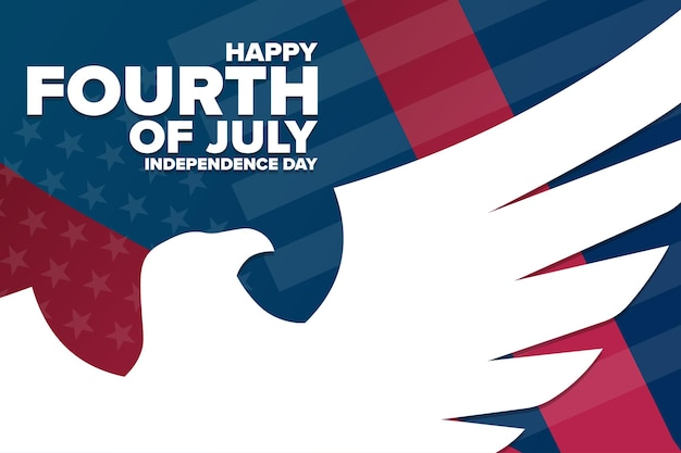 Happy independence day. 4th of july. holiday concept. template for background, banner, card, poster with text inscription. vector eps10 illustration.