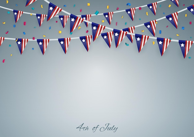 幸せな独立記念日。 7月4日。