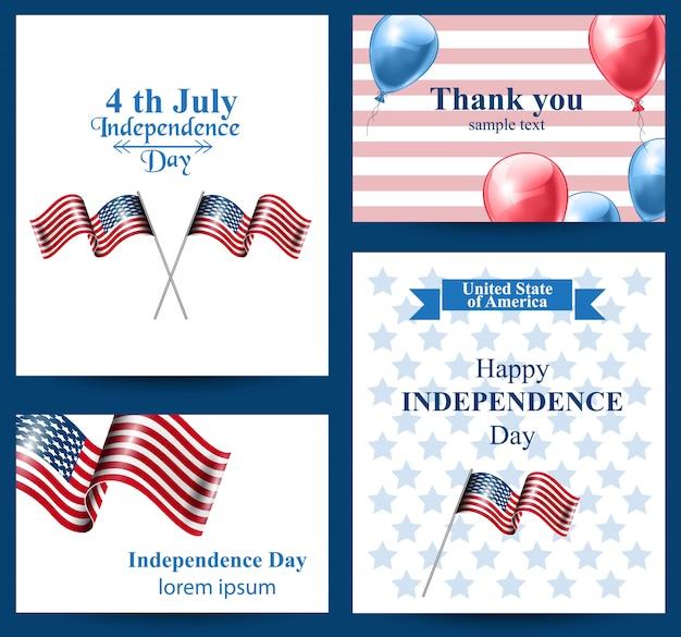 ハッピー・インディペンデンスの日アメリカのカードコレクション