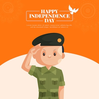 Happy independence day banner design template