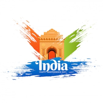 Happy independence day celebration background.