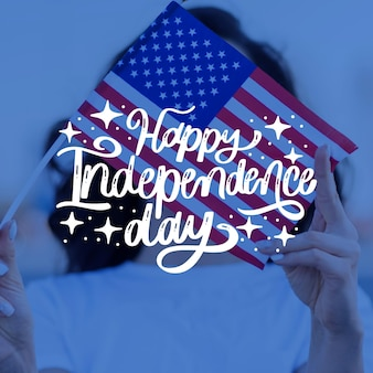 Happy independence day concept