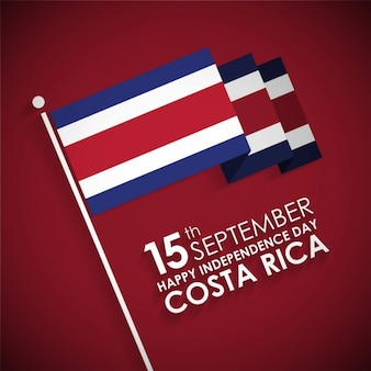 Happy independence day costa rica card