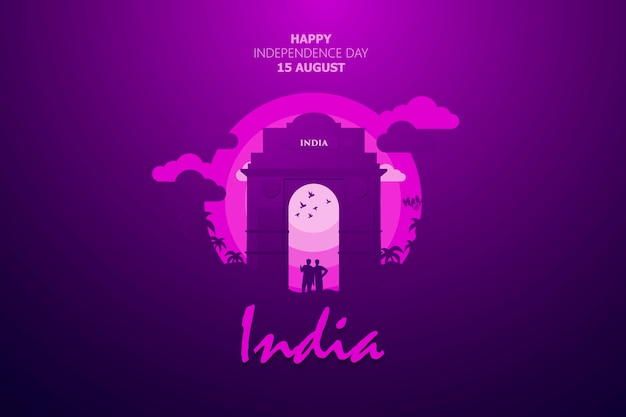 Happy independence day of india background