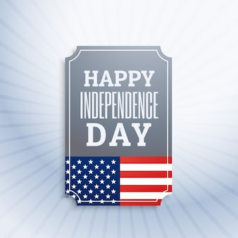 Happy independence day label
