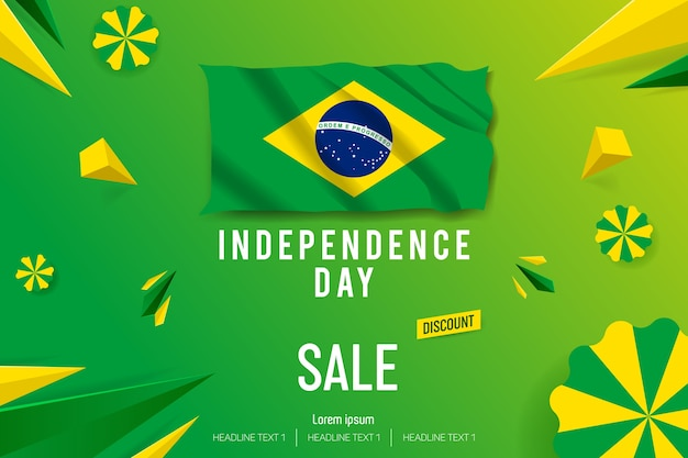 Happy independence day sale offer vector background