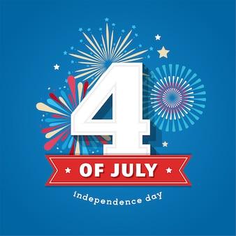 С днем независимости соединенные штаты америки, июль Premium векторы