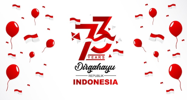 Happy independence indonesia
