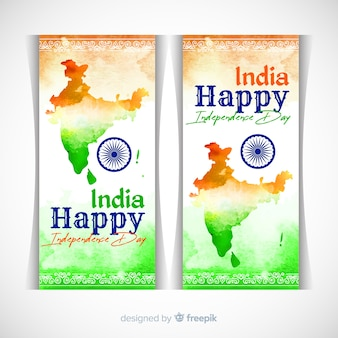 Happy india independence day banners