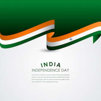 Счастливый день независимости индии празднование вектор шаблон дизайна иллюстрация