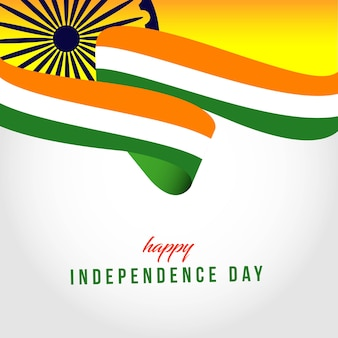 Happy India Independent Day Template Illustration