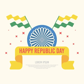 Happy india republic day illustration