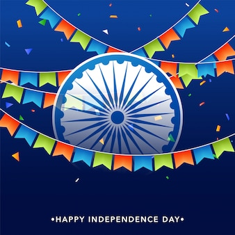 Happy indian independence day background.