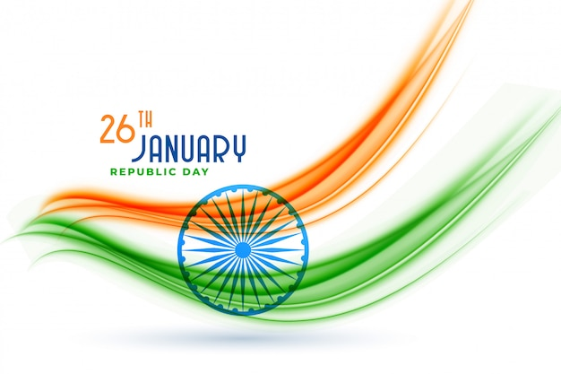 Happy indian republic day creative flag design