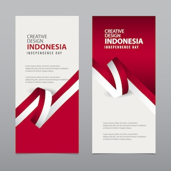 Happy indonesia independence day celebration creative   template