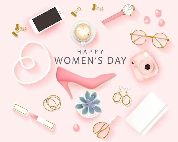 Happy international women's day background