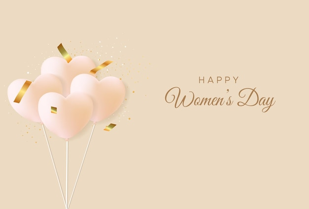 현실적인 마음으로 행복한 국제 여성의 날 인사말 카드