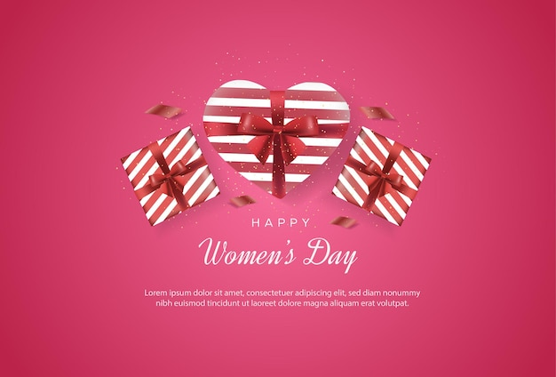 Happy international women's day with gifts that make up love