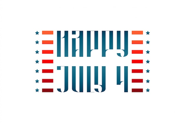 Happy july 4 medieval traditional lettering