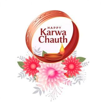 Happy karwa chauth background