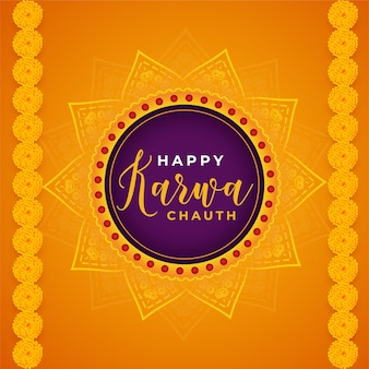 Happy karwa chauth decorative abstract background of indian festival