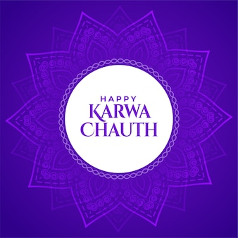 Happy karwa chauth decorative background of traditional indian festival