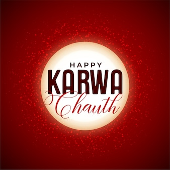 Счастливый карва чаут декоративный лунный фон индийского фестиваля