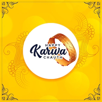 Happy karwa chauth indian festival greeting card