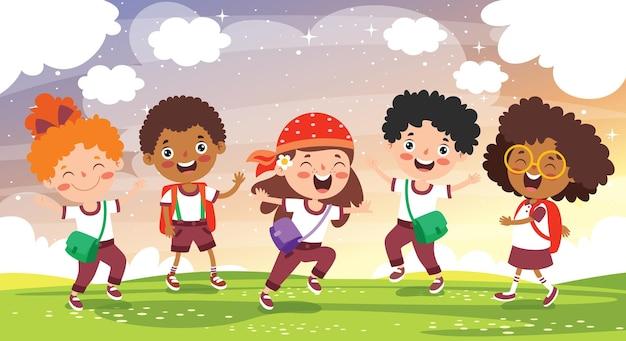 幸せな子供の勉強と学習