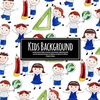 学校に戻るhappy kids background