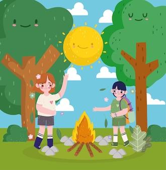 행복한 아이들 캠핑