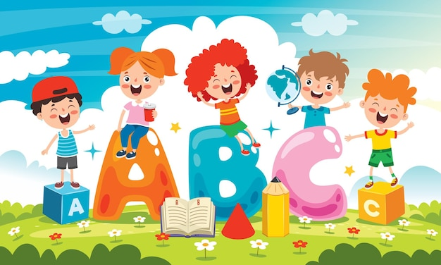 Счастливые дети учатся и учатся