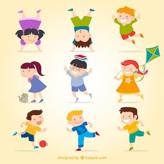 Bambini felici Vettore gratuito