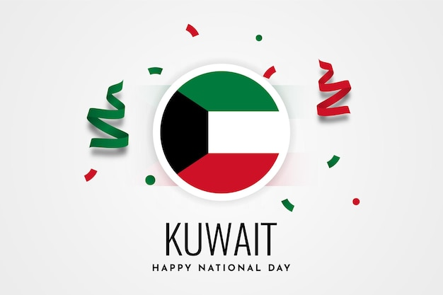 Happy kuwait national day celebration illustration template design