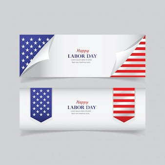 Happy labor day banner template