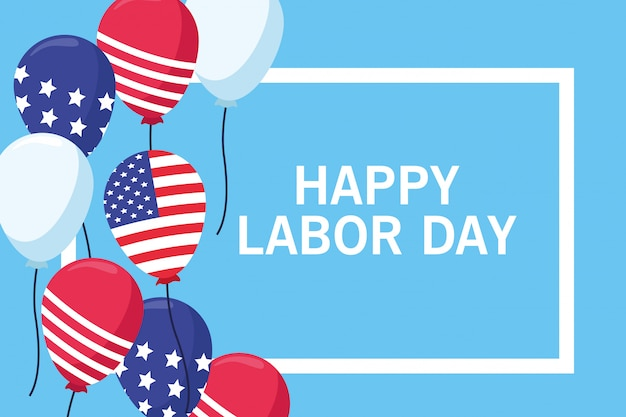 Happy labor day card, usa holiday