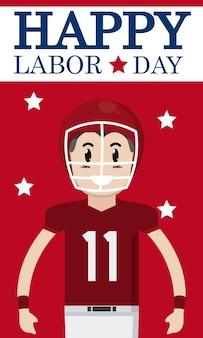 サッカー選手漫画と幸せ労働日のカード