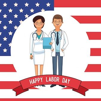 Happy labor day card