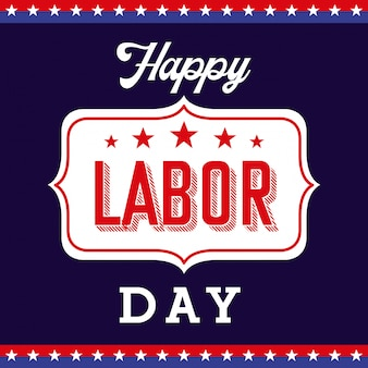 Happy labor day card