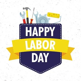 Празднование дня труда с инструментами в кармане
