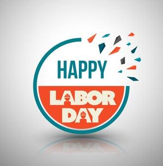 Happy labor day circle banner