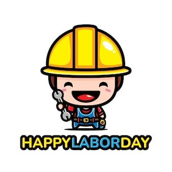 행복한 노동절 디자인