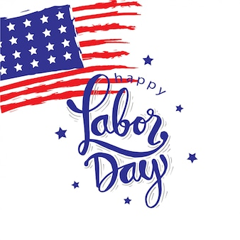 Happy labor day design.