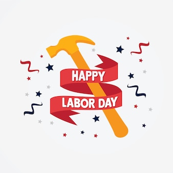 Happy labor day emblem background