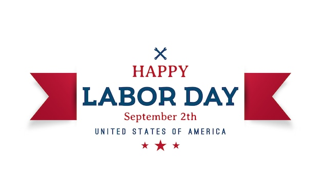 Happy labor day greeting banner.