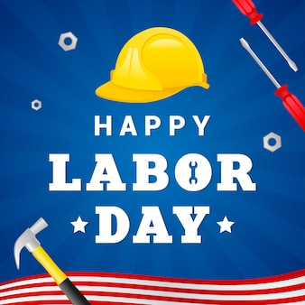 Happy labor day greeting card vector.