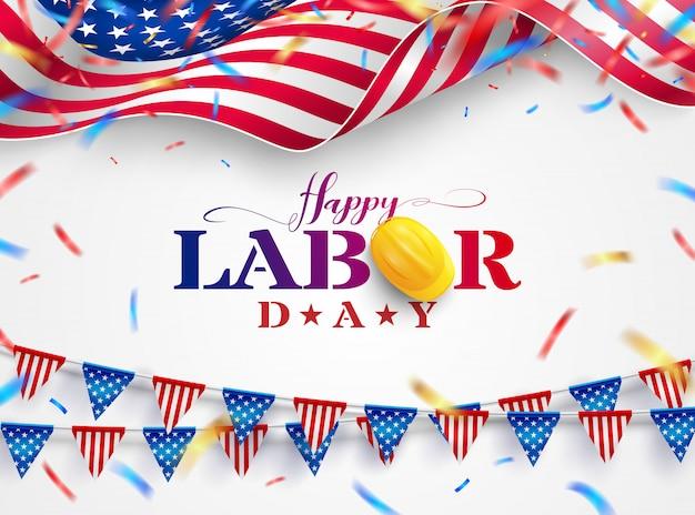 幸せな労働者の日の図