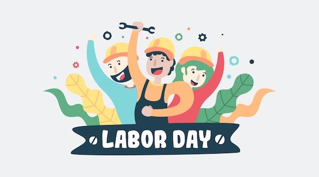 Happy labor day illustration