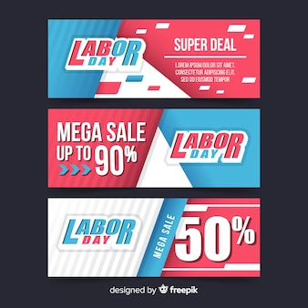 Happy labor day mega sale banner