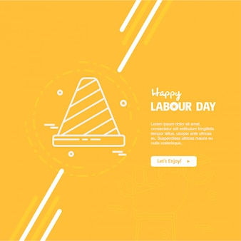Happy labor day orange background